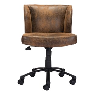 industrial rustic desk chairs you ll love wayfair rh wayfair com rustic leather desk chair rustic desk chair without wheels