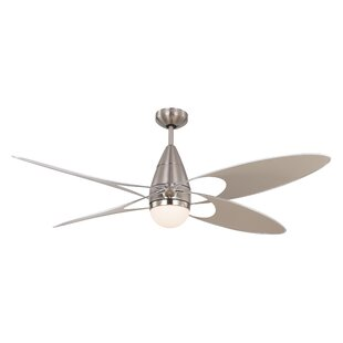 Modern contemporary ceiling fans allmodern 54 clorinda butterfly 4 blade outdoor ceiling fan with remote aloadofball Choice Image