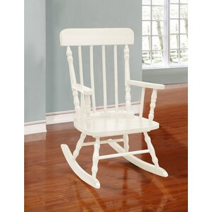 Della Kid's Solid Pine Wood Rocking Chair by Harriet Bee