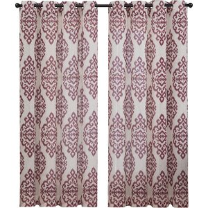 Ida Damask Sheer Grommet Curtain Panels