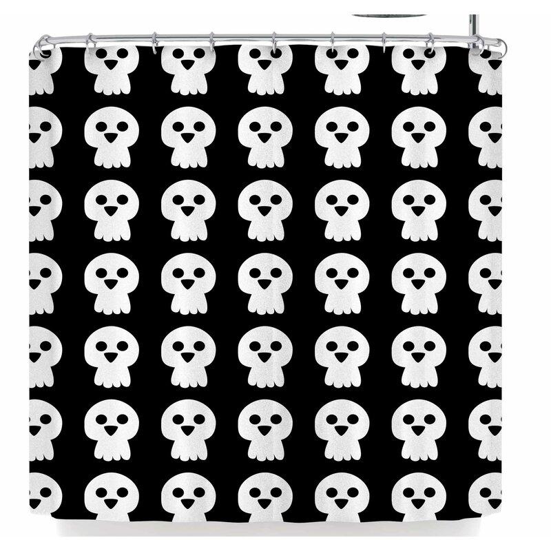 Bruxamagica Cute Halloween Skull Shower Curtain
