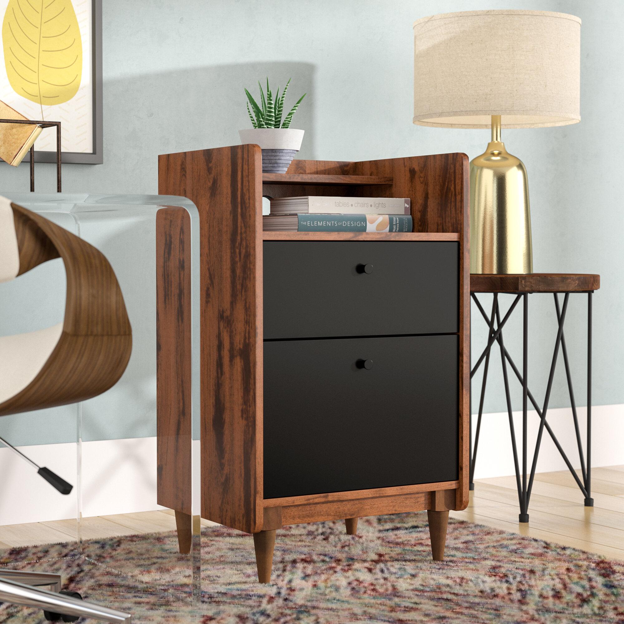 Mercury Row Posner 2 Drawer Vertical Filing Cabinet Reviews Wayfair