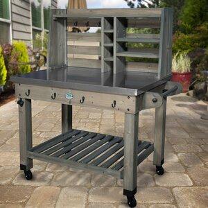 Barnwood Bar Serving Cart