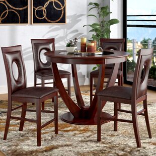 Depriest 5 Piece Counter Height Pub Table Set