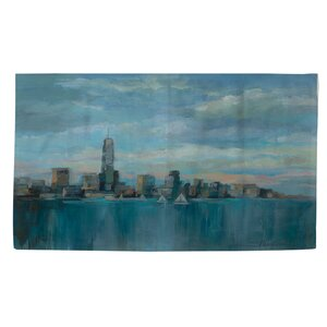Manhattan Tower of Hope Blue Area Rug
