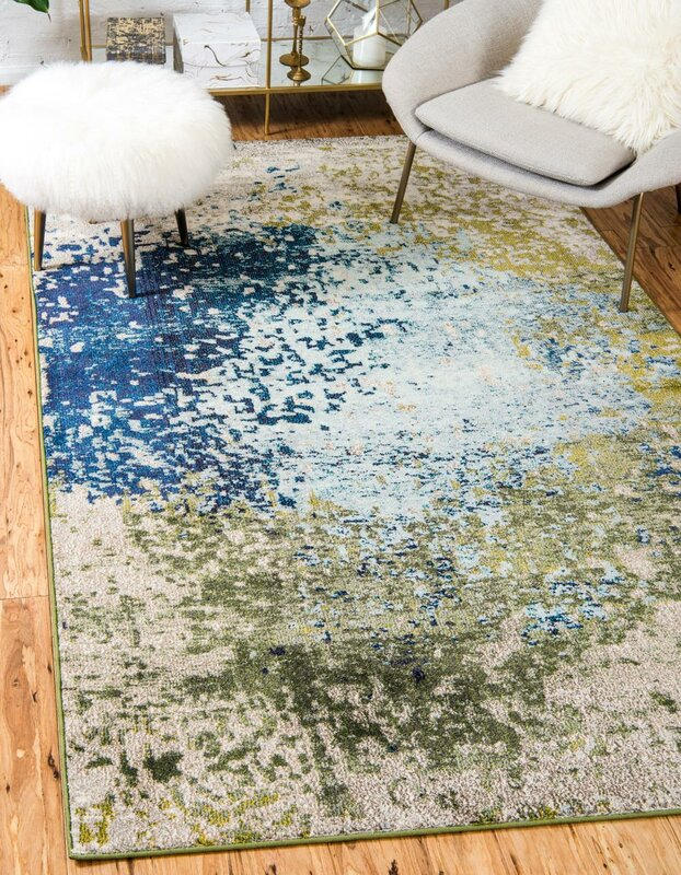 World Menagerie Hayes Blue Green Area Rug Amp Reviews