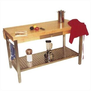 Kitchen Prep Table Stainless steel prep stations tables youll love wayfair cucina grande prep table with butcher block top workwithnaturefo