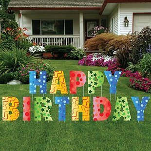 13 Piece Happy Birthday Letters Yard Sign Set