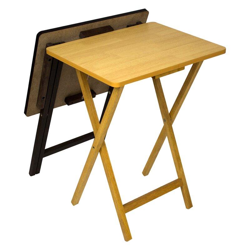 Ivana Folding TV Tray Table Set  sc 1 st  Wayfair & Andover Mills Ivana Folding TV Tray Table Set u0026 Reviews | Wayfair