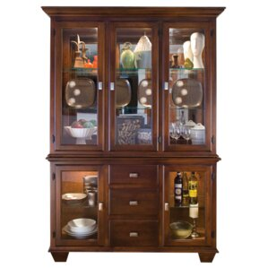 Hampton Lighted China Cabinet by Conrad G..