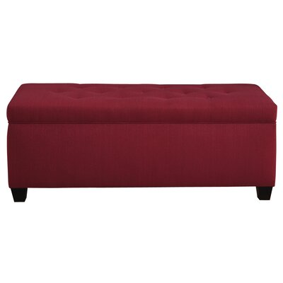 Winston Porter Paisleigh Upholstered Shoe Storage Bench Size: Small, Finish: Candice Tulip