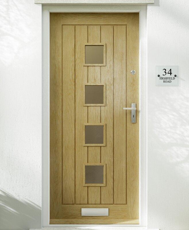 Premdor Croft Wood 4 Panel Glazed External Door Reviews Wayfair