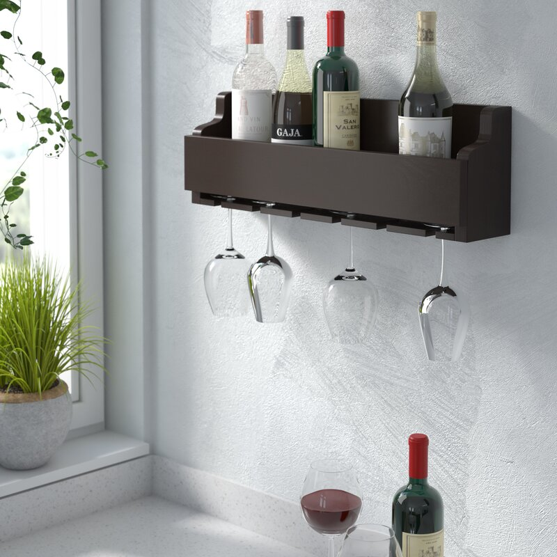 Gonzalez 6 Bottle Wall Mounted Wine Rack Birch Lane