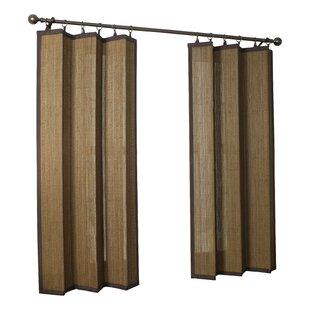 Katheryn Solid Semi Sheer Tab Top Single Curtain Panel