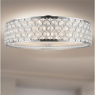 Crystal light flush mount wayfair save aloadofball Gallery