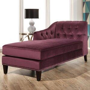Macdonald Velvet Chaise Lounge
