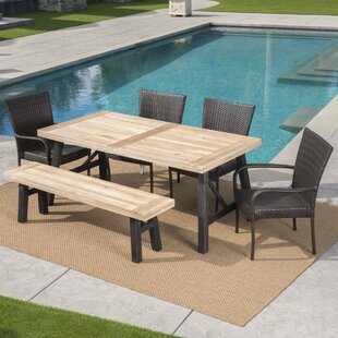 Outdoor Table And Bench Set Wayfair
