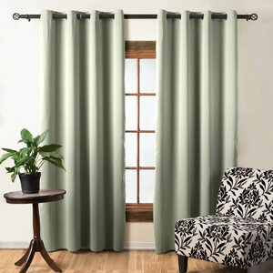 Gallaway Polka Dots Blackout Thermal Grommet Single Curtain Panel