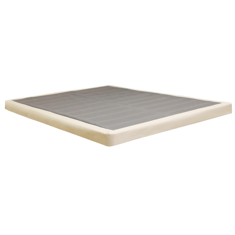alwyn home low profile wood mattress foundation reviews wayfair