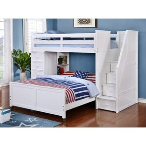 Danelle Twin Over Full L-Shaped Bunk Bed by Harriet Bee