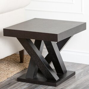 Mcnair Espresso Wood End Table by Wade Logan