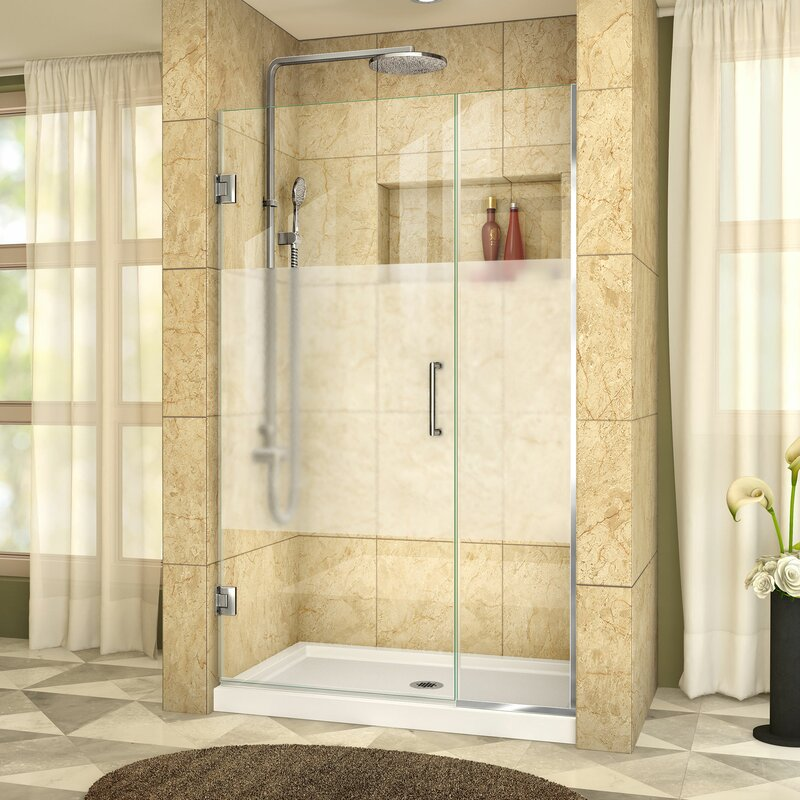 Unidoor Plus 44 X 72 Hinged Frameless Shower Door With Clearmax Technology