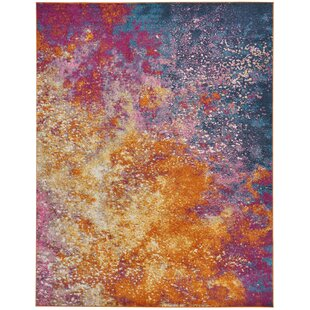 Shortwood Pink Yellow Indoor Area Rug