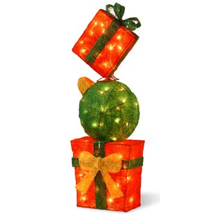 decorative dcor pre lit gift box tower christmas decoration