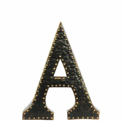 Williston Forge Metal Letter Wall Décor with Rivets | Wayfair