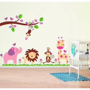 Jungle Safari Wall Decals Youll Love Wayfair - Nursery wall decals elephant
