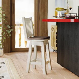 Abella 24 Rustic Swivel Bar Stool
