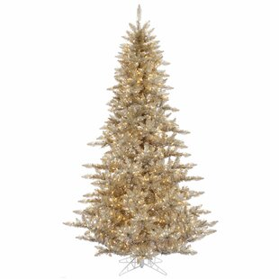 3 champagne fir artificial christmas tree with 100 clear lights - Black And Gold Christmas Tree