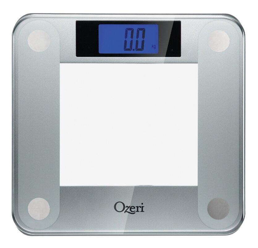ozeri precision ii digital bathroom scale (440 lbs capacity), with