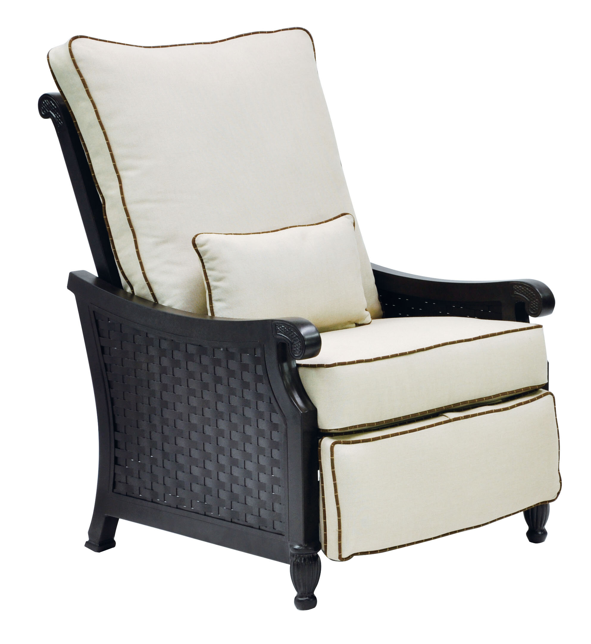 Leona Jakarta 3 Position Recliner Patio Chair with Cushions