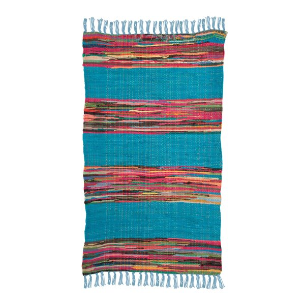 Ian Snow Mexican Hand-Woven Blue Area Rug & Reviews