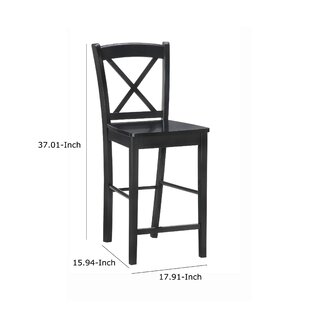 Abramowitz Wooden Bar & Counter Stool