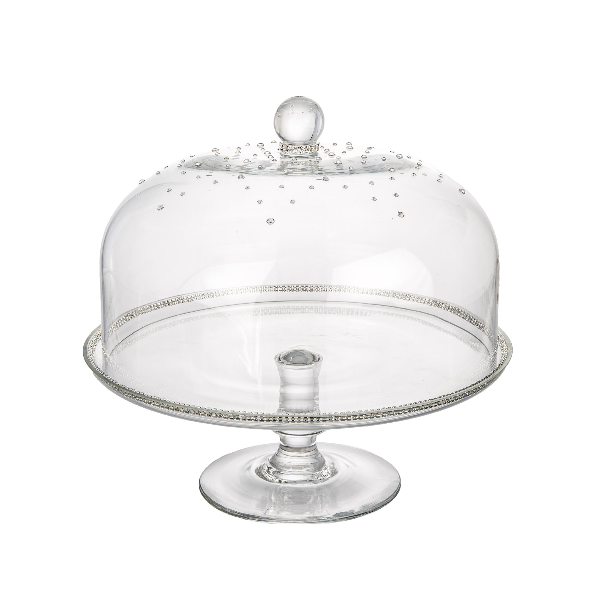 sc 1 st  Wayfair & ClassicTouch Glass Dome Cake Stand \u0026 Reviews | Wayfair