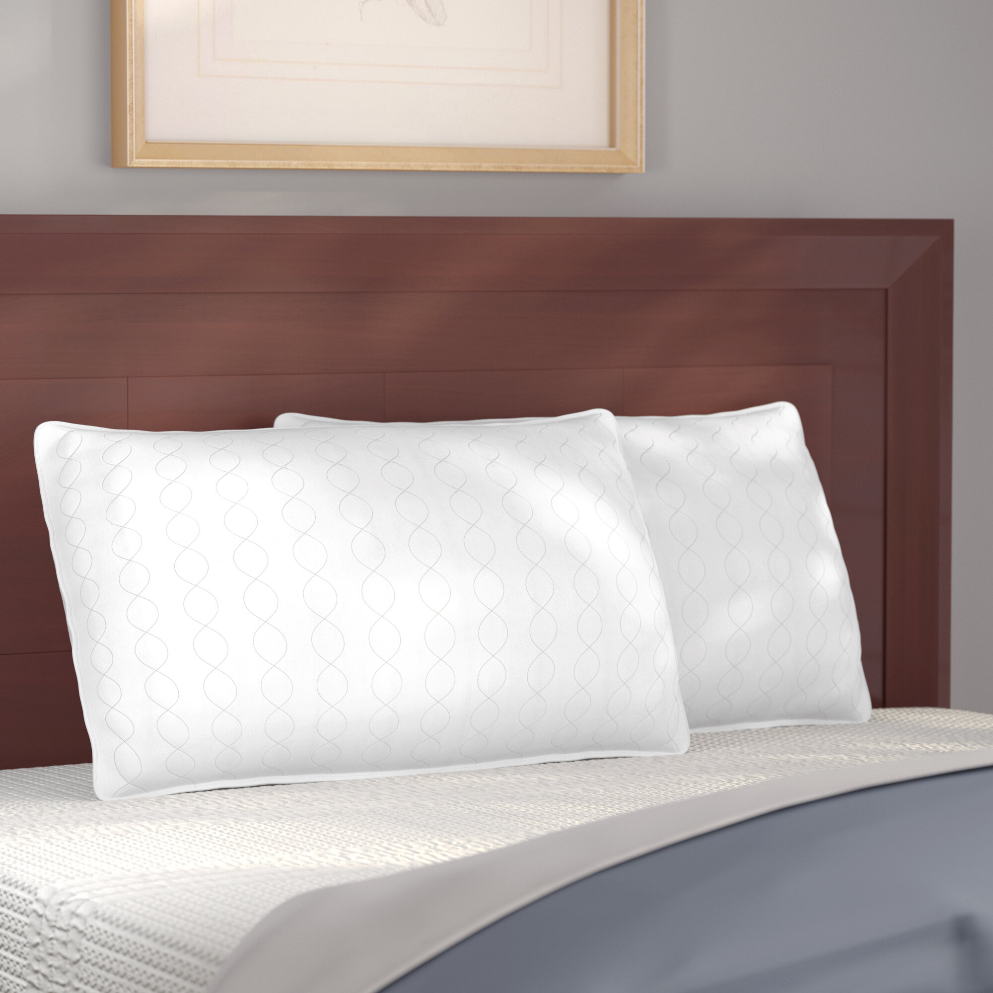 Alwyn Home Firm Down Blend Bed Pillow