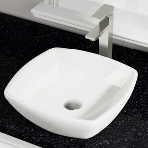 Porcelain Square Vessel Bathroom Sink