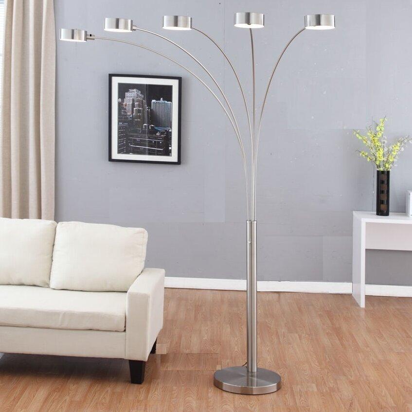 Artiva Usa Micah 88 Quot Led Arched Floor Lamp Amp Reviews Wayfair