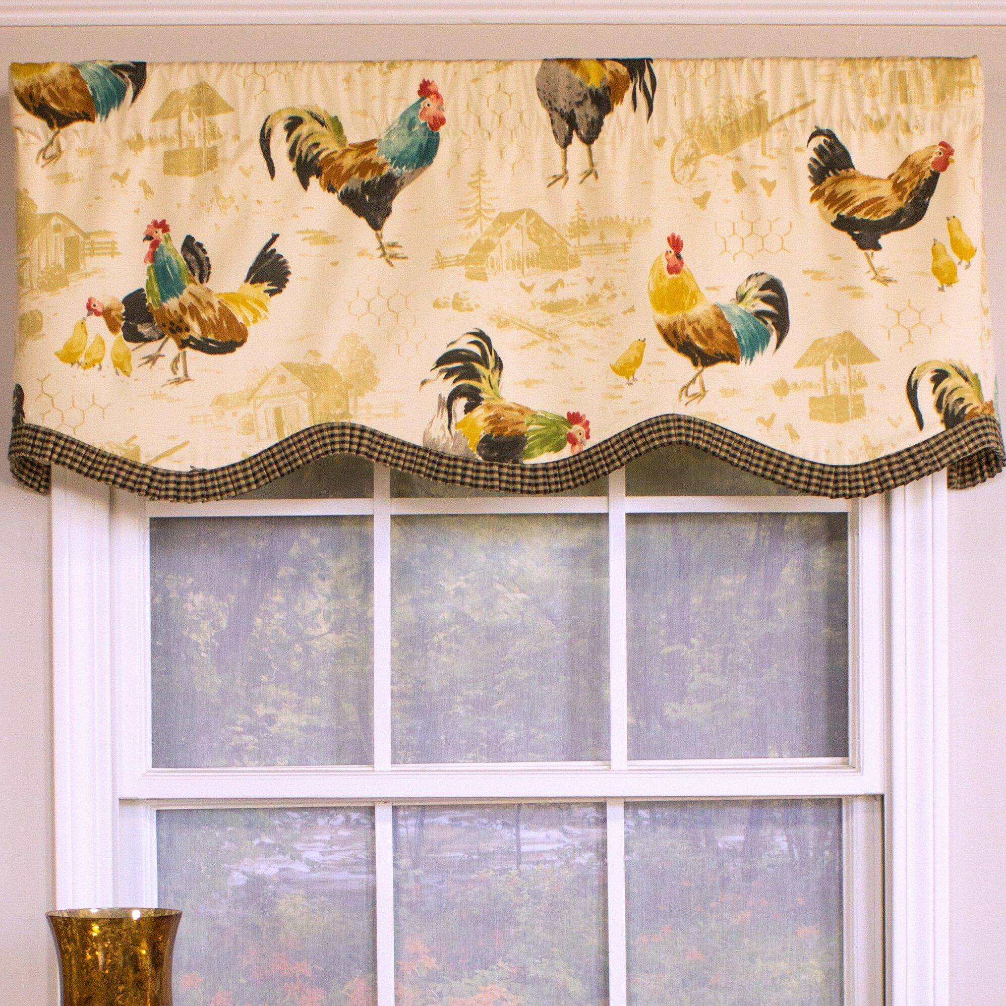 Rlf Home Rooster Strut Provance 50 Quot Curtain Valance