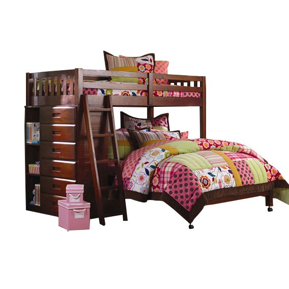 viv rae kaitlyn l shaped twin over full bunk bed reviews wayfair. Black Bedroom Furniture Sets. Home Design Ideas