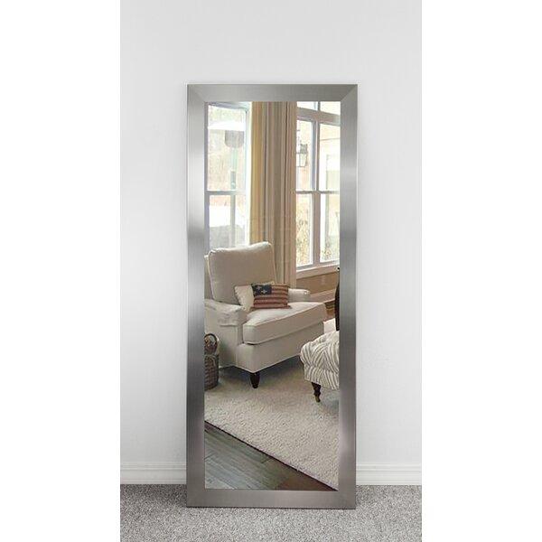 Industrial Wall Mirror wade logan industrial rectangle wall mirror & reviews   wayfair