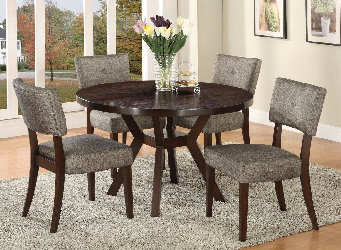 infini furnishings 5 piece dining set & reviews | wayfair
