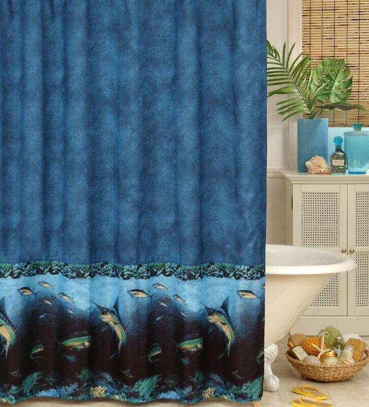Karin maki coral reef shower curtain reviews wayfair for Coral reef bathroom decor