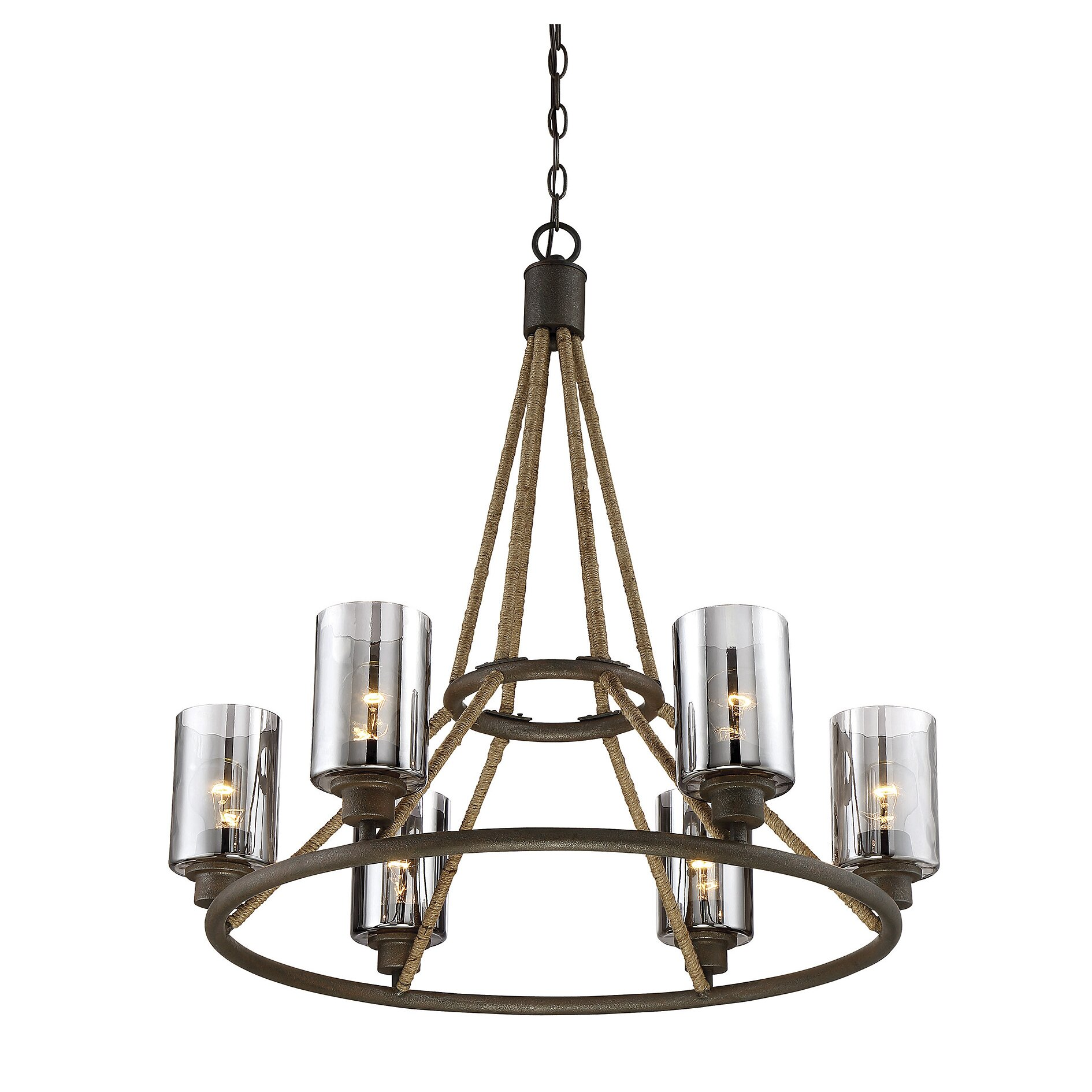 Savoy House Maverick 6 Light Shaded Chandelier Reviews