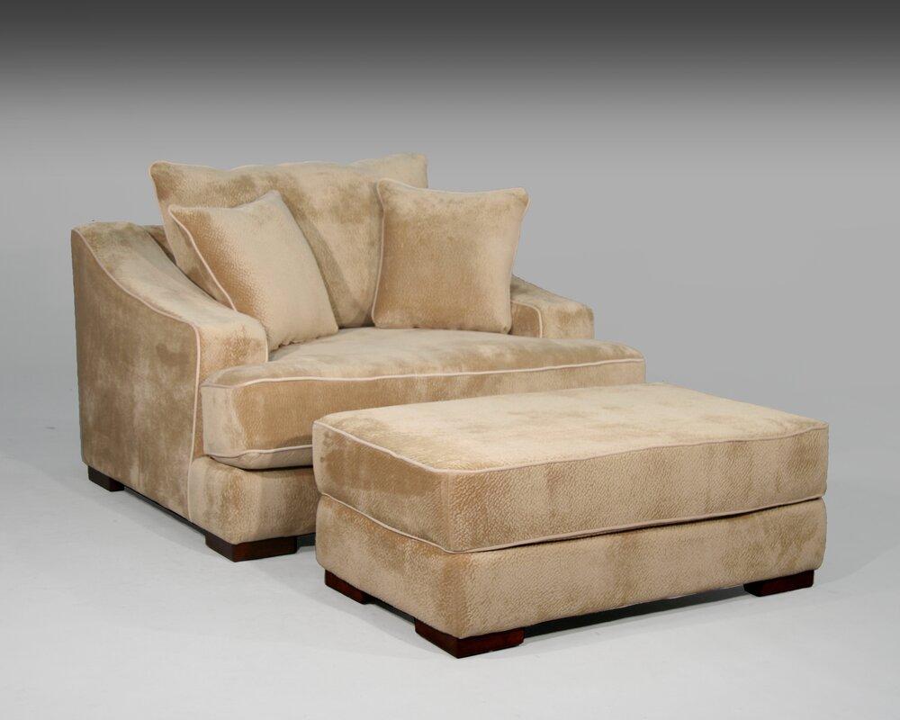 sage avenue cameron chair and a half and ottoman & reviews | wayfair