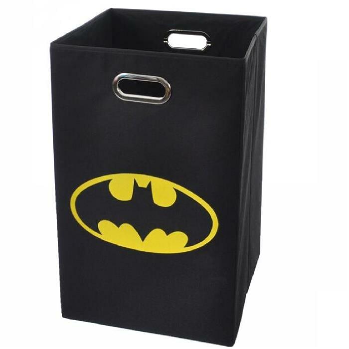 Modern littles batman logo folding laundry hamper reviews wayfair - Batman laundry hamper ...