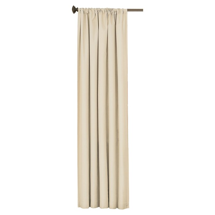 Charlton Home Columbia Solid Blackout Thermal Rod Pocket Single Curtain Panel Reviews