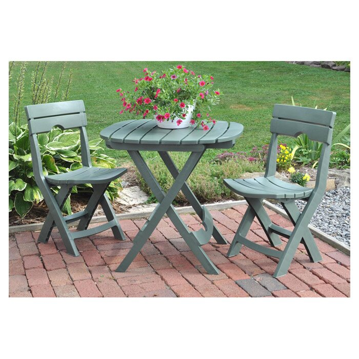 Andover mills quebec 3 piece bistro set reviews wayfair for Outdoor furniture quebec